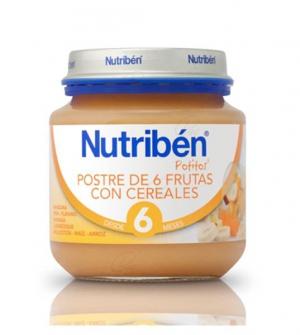 NUTRIBEN POSTRE DE 6 FRUTAS CON CEREALES